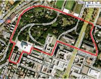 Il circuito proposto nel quartiere romano dell'Eur