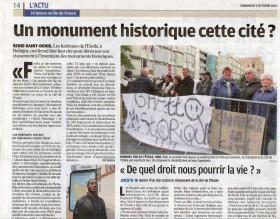 """LA PROTESTA DEGLI ABITANTI CONTRO LA DECISIONE DI SALVAGUARDARE LE STECCHE DI BOBIGNY COME """"MONUMENTI STORICI"""""""