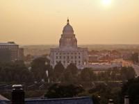 Il Campidoglio di Providence, la capitale del Rhode Islands, costruito imitando la cupola di San Pietro a Roma